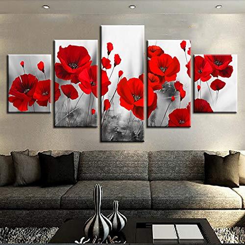 lglays (Nessuna Cornice) Quadro Stampe Immagini Living Room Wall Art 5 Pezzi...