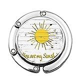 Citas de Amor Eres mi Sol en tablones de Madera Luces solares Colgador de Bolso portátil Personalizado Mesa Bar Monedero Gancho superio