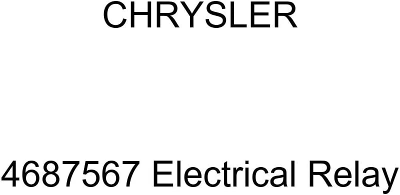 Genuine Chrysler 4687567 Max 71% OFF Electrical Limited time for free shipping Relay