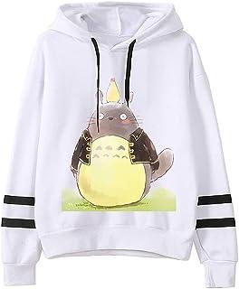 Totoro Hoodie Women's Pullover Men's Sweatshirt Japanese Anime Sweatshirt Harajuku Hoodie Unisex (Color : A, Size : X-Large)