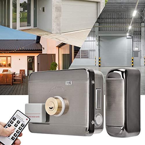 Sistema inteligente de control de acceso con cerradura de doble cabezal con cerradura de puerta inteligente, ID de control remoto antirrobo para el apartamento del hogar Almacén Garaje