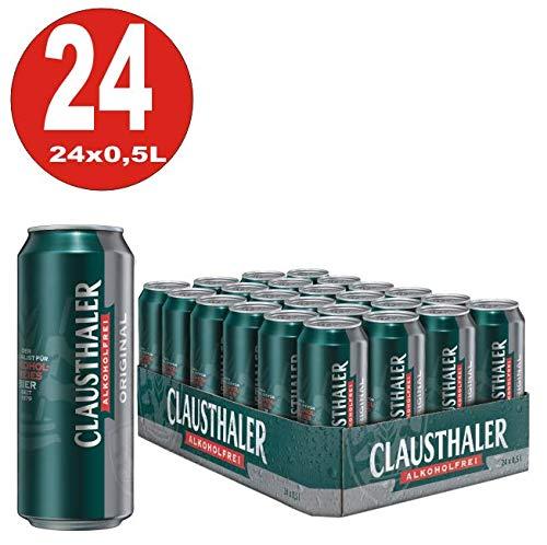 24 latas de 0.5L de cerveza original Clausthaler SIN ALCOHOL