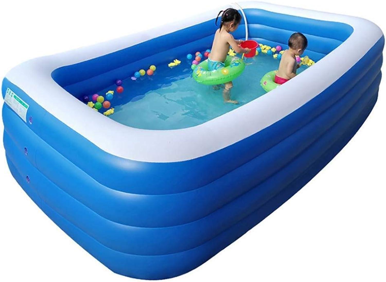 SHON Family Pool Aufblasbares Kinder-Planschbecken Happy People Relax Und Genieer Pool Easy Set Aufstellpool Für Garten Und Terasse,318×180×75cm