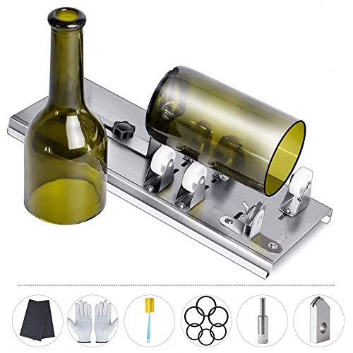 Bottle Cutter Glass Bottle Cutter Glass Cutter Bottle Cutting Tool for DIY Projects Adjustable Bottle Cutting Tool for Wine, Beer, Whiskey, Champagne, Water Or Soda Bottles
