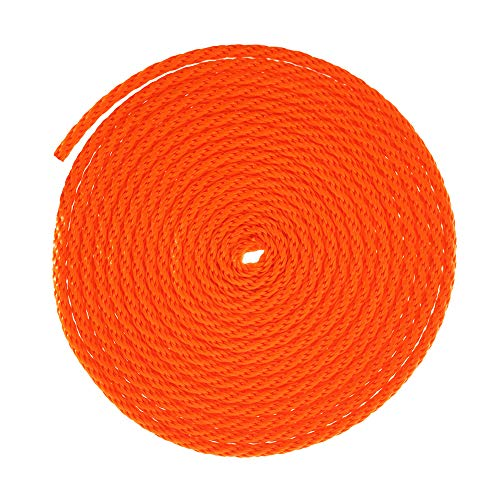 """GOLBERG Solid Braid Nylon Utility Rope – Multipurpose Rope for Outdoor Activities, Commercial Applications, Crafts – Orange (1/8"""" x 50 Feet)"""