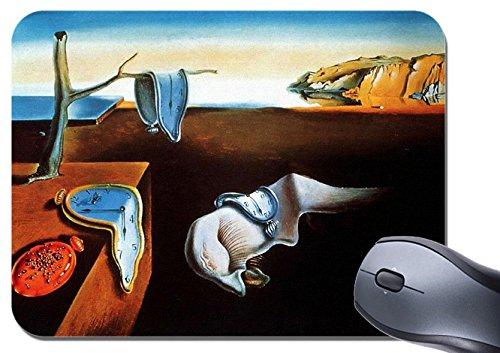 Tappetino per mouse con quadro La persistenza della memoria di Salvador Dalì, tappetino per mouse con stampa artistica di alta qualità