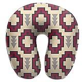 Almohada para el Cuello Tribal Southwestern Native American Navajo Pattern 02 Almohada de Viaje en...
