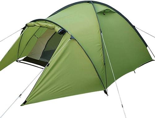 ZZPEO Tente De Camping Professionnelle Adaptée pour 2-3Persons Double Couche Anti Grande Pluie Tente Familiale Extérieure 1Room
