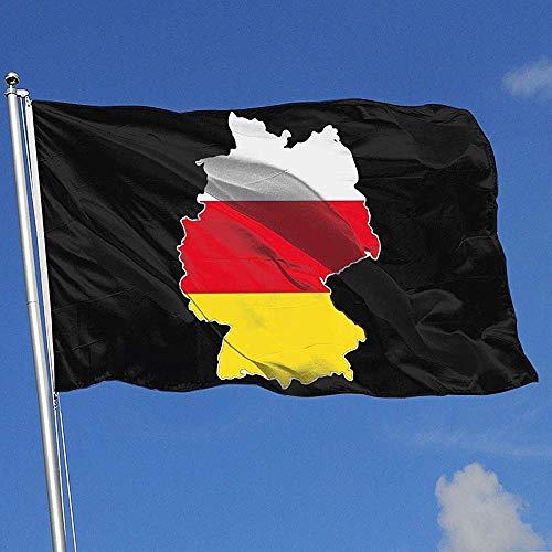 wallxxj Blumen Flagge Deutsche Flagge Auf Detaillierter Deutschlandkarte Yard Banner Polyester Gartenflagge Lebendige Yard Flag House Flagge Willkommen Hübsches Banner Mit Ösen Im Freien