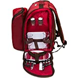 apollo walker 2 Person Red Picnic Backpack with Cooler...