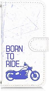 LG V20 PRO L-01J 用 手帳型 カードタイプ スマホケース ビンテージ バイク・ブルー ビンテージ モーターサイクル エルジー ブイトゥエンティ プロ docomo スマホカバー 携帯ケース スタンド FFANY bike 00...