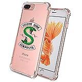 Riverdale Southside Serpents Handyhülle für iPhone 8 Plus und iPhone 7 Plus 5,5 Zoll, Comdoit Crystal Clear Stoßdämpfungstechnologie Bumper Schutzhülle für iPhone 7 Plus/iPhone 8 Plus