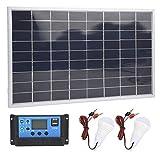 SALUTUYA Bombilla LED Panel Solar Cargador de batería Material Duradero de polisilicio Utilizado en los Coches del Club para vehículos turísticos(20A)