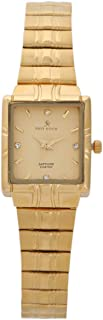 Hand Watch for Men by Sun Rock, Square, Gold, SRL076