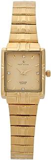 ساعة يد للرجال من سونروك، مربعة، ذهبي، SRL076