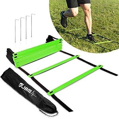 JBM international JBM Agility Ladder with Free Carry Bag Speed Ladder Agility Training Ladder For Agility Speed Ladder Drills Speed Training Soccer Football Agility Training