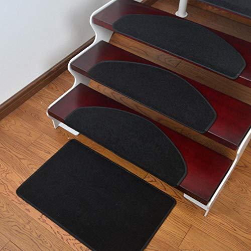 LLAAIT Zelfklevende trappads, antislip tapijten, veiligheidsdemper-vloermatten, herbruikbare veiligheidspads, mat voor de trap van je huis