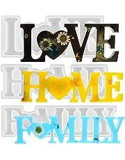 CYH 3 stuk LOVE / HOME / FAMILY Epoxy Mallen - 3D Hars Gieten Silicone Schimmel Set - DIY Tabel Decoratie Hars Mallen - Creative Gift voor Craft, Valentijnsdag, Bruiloft