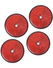 4 Unidades de reflectores Rojos Redondos para Remolque, Ojo de Gato, Reflector, camión, Caravana, Coche