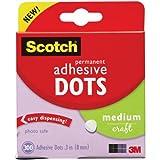 Scotch Brand 599039153097 Scotch 010-300M 300-Pack Adhesive Dots, Medium, 300 Count, Clear...