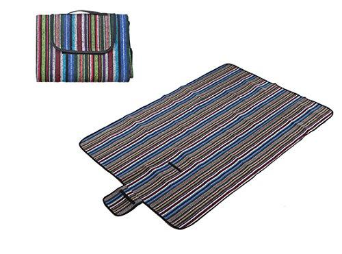 Honeystore 200*150 Polyesterfaser Yoga Matte Strand Ausflug Picknickdecke mit wasserabweisender Unterseite Mehrfarbig-04