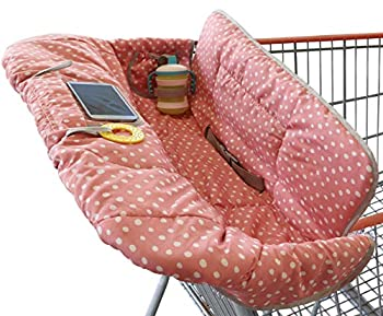 Suessie Shopping Cart Cover and High Chair Cover Pink Dots