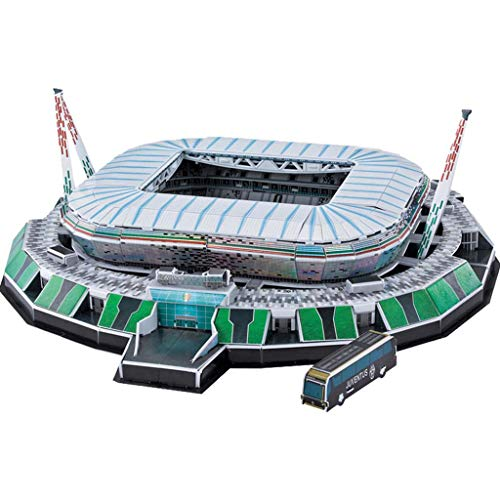 Mankvis 3D Stadion-Puzzle Juventus Stadium Torino Gioco Puzzle Fai-da-Te per Bambini I Souvenir dei Fan Regalano Figurine di Stelle Gratuite