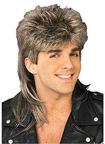 Peluca para hombre, estilo retro de los años 70 y 80 para Halloween, disfraces y cosplay