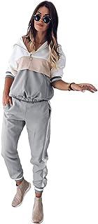Dreneco Ladies Tracksuit - Women Sports Suit 2 Piece Set Tracksuit Jogging Suit Hooded + Long Pants Set Sweatshirt Hoodie ...