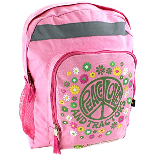 John Deere Peace Youth 16 inch Pink Backpack (Girls/Kids/Teen)