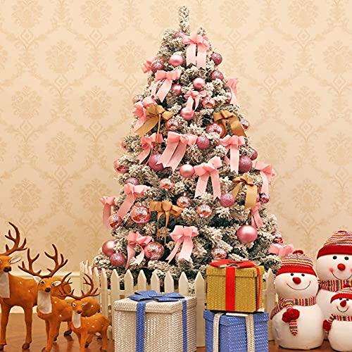 YSDKJ Árbol de Navidad Artificial Flock Christmas Tree Árbol de Pino Artificial...