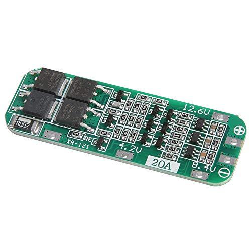 Placa de protección de batería de litio 3S 12.6V 20A 18650 LiPo Cell BMS PCB módulo de carga de recuperación automática