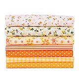 Leku Paño de algodón - 7pcs/Set 100% Algodón Batiks Paño para Manualidades de Costura para Funda de cojín de Billetera de Bricolaje(50 * 50cm)