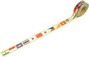 東京カートグラフィック マスキングテープ 国旗 アジア 幅15mm MTKA