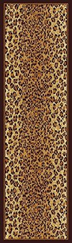 Modern Area Rugs Brown Cheetah Leopard Hallway Runner Rug, Runner Rugs for Hallway 2x8