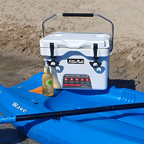 XtremepowerUS 16-Quart Cooler Portable Insulated Ice Chest 4-Day Ice Retention 24-Can Capacity...