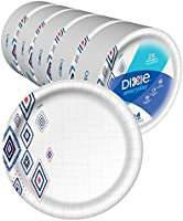 "Dixie Everyday Paper Plates,10 1/16"" Plate, Amazon Exclusive, Dinner Size Printed Disposable"