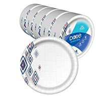 "Dixie Everyday Paper Plates,10 1/16"" Plate, Amazon Exclusive, Dinner Size Printed Disposable Plates, (5 Pack of 44 Plates), 220 Count"