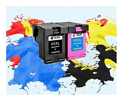 Cartucho de tinta 65XL de repuesto para hp 65 XL hp65 para impresora hp DeskJet3720 3722 3755 3730 3758 Envy 5010 5020 5030 5232 (Color: 1BK 1C)