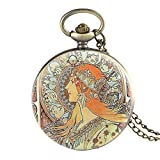 XVCHQIN Elegante Reloj de Bolsillo de Cuarzo con diseño de