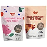 West Paw Freeze-Dried Raw All Natural Dog Treats, Single Ingredient, Humanely Raised and Sustainably Sourced, Made in USA, Beef Heart & Pork, 2 Pack
