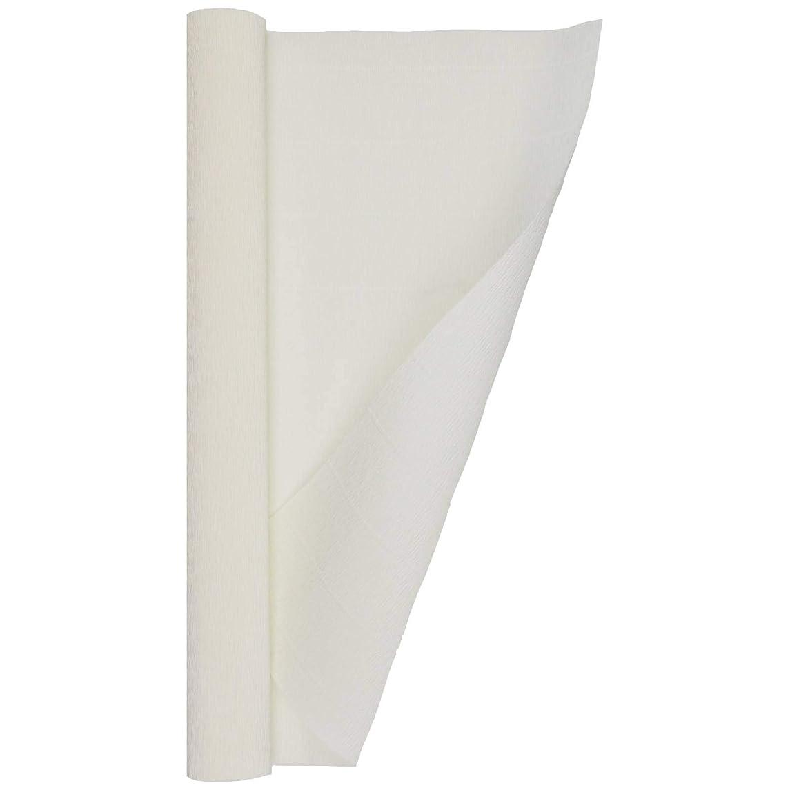 Crepe Paper Roll, Heavy Italian 140 g, 13.3 sqft, White Cream