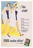 Persil Bathing Poster, Vintage-Stil, altmodisches