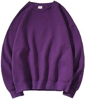 Mogogo Men's Oversize Candy Color Plus Velvet Couples Top Blouse Sweatshirt