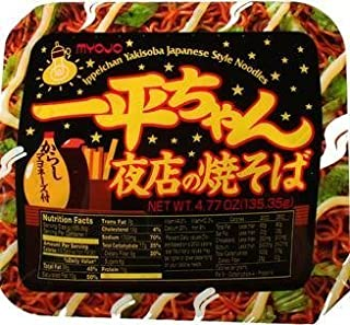 Myojo Ippei-chan Instant Yakisoba Noodles 4.77oz Tubs (Pack of 12)