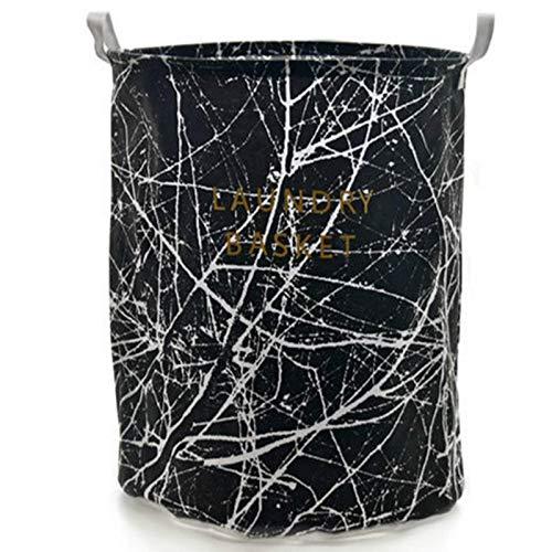Canasta de lavandería Canasta de ropa sucia Patrón de mármol Muebles para el hogar Acabado de tela Cubo de almacenamiento Algodón Lino Canasta de almacenamiento impermeable Canasta de lavandería