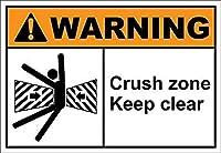 165屋外用にパーソナライズされた新しいブリキサインクラッシュゾーン明確な警告を維持アルミニウム金属サイン壁の装飾8x12インチ