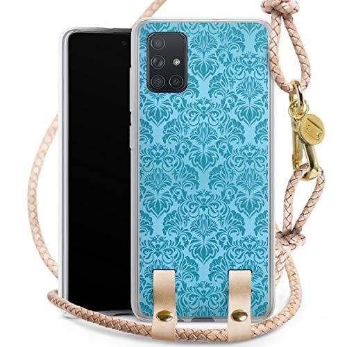 DeinDesign Carry Case kompatibel mit Samsung Galaxy A71 Hülle mit Kordel aus Leder Handykette zum...