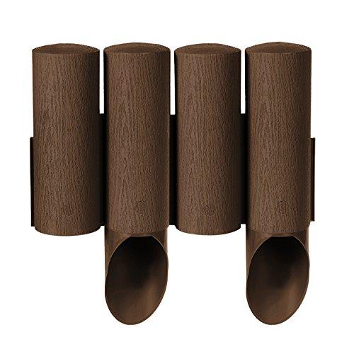 Cellfast Standard 4 palizzata del giardino marrone/grafite. Altezza: 25,5 cm - Lunghezza: 2,3 m (marrone)