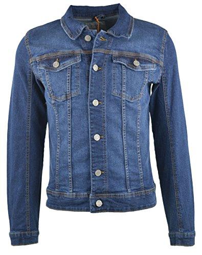 Blend Herren Jacke Jeansjacke Denim Middle Blue, Größe:L